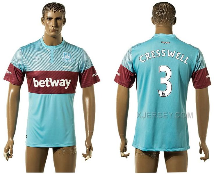 http://www.xjersey.com/201516-west-ham-united-3-cresswell-away-thailand-jersey.html 2015-16 WEST HAM UNITED 3 CRESSWELL AWAY THAILAND JERSEY Only $35.00 , Free Shipping!