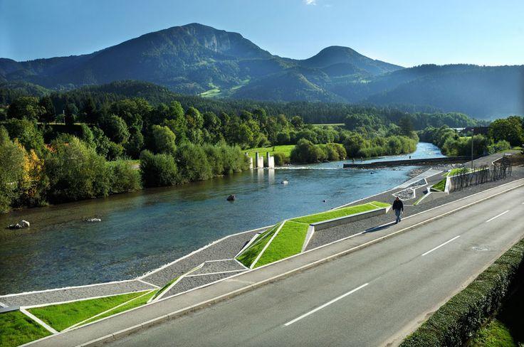 General Maister Memorial Park. Bruto Landscape Architecture. Ljubno ob Savinji, Eslovênia. 2005 (projeto), 2007 (construção).
