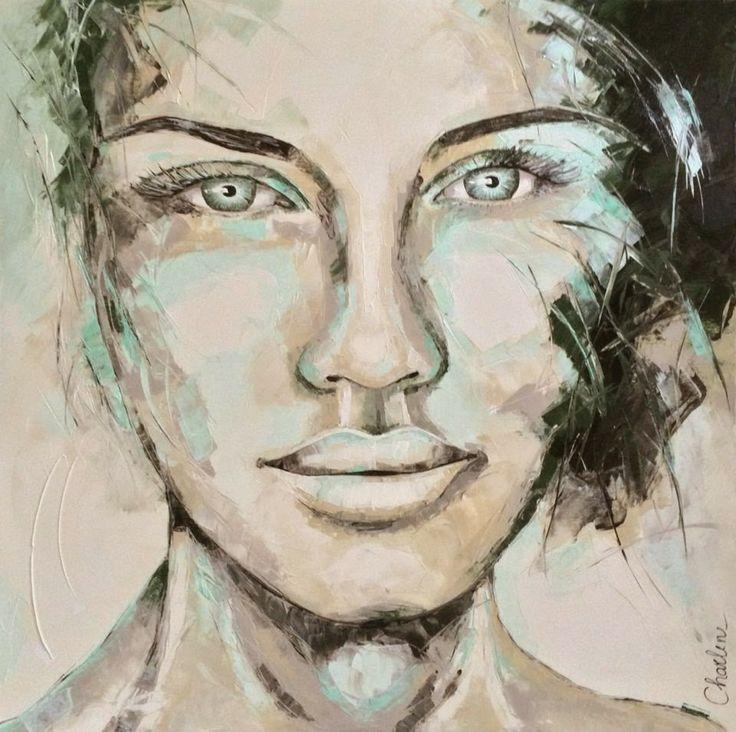 Charlene Van Den Eng, 1971 ~ diseñador pintor Retrato / Moda