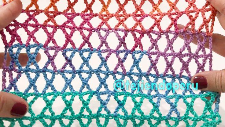 Punto K tejiodo a crochet... ¡lindo y fácil! Crochet K stitch :)