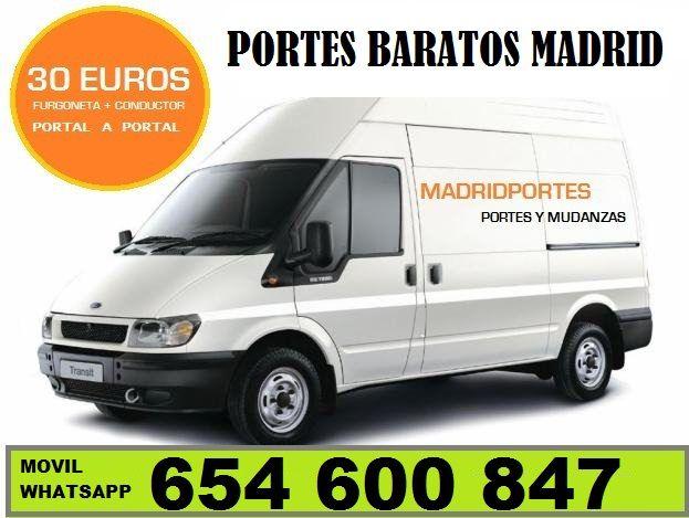 #91((36))89..819PORTES+DESCUENTOS EN EL DISTRITO DE SANCHINARRO LLAMENOS Y LE OFRECEREMOS VEHICULOS CON CONDUCTOR PARA QUE UD MISMO REALICE  SU MUDANZA O PORTE A PRECIOS MUY ECONOMICOS. (TARIFAS MADRID CAPITAL):: PORTES EN SANCHINARRO, VICALVARO DESDE 30€UROS .FURGON DE 12M3+ CHOFER= FUR/1 AYUDANTE DE CARGA/DESCARGA= 40€ HORA . FURGON DE 12M3+ 2 AYUDANTES=60€ HORA(MADRID-SANCHINARRO,Bº DEL PILAR) . VENTA DE EMBALAJES (CAJAS ARMARIOS, BURBUJAS, CAJAS, FILMS) EN MADRID