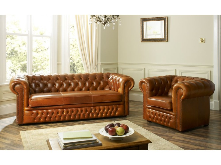 The English Sofa Company | The Cambridge Chesterfield Leather Sofa    Available In A Variety Of