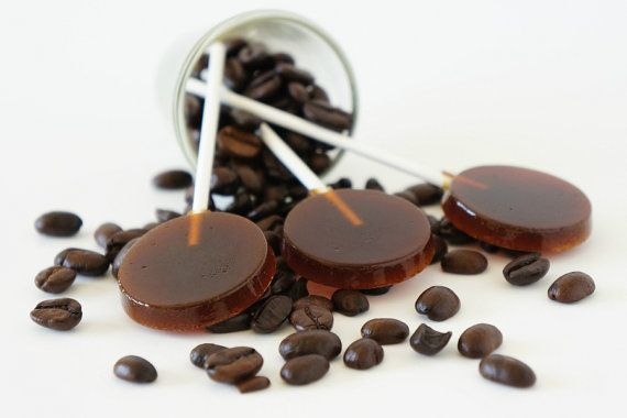 Coffee Lollipops  Coffee Suckers  Homemade lollipops  by cpsweets