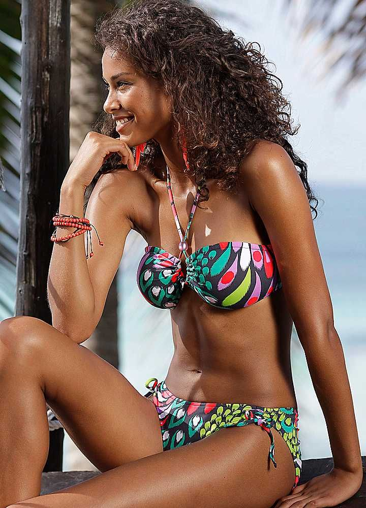 Bruno Banani Multi-Coloured Bandeau Bikini