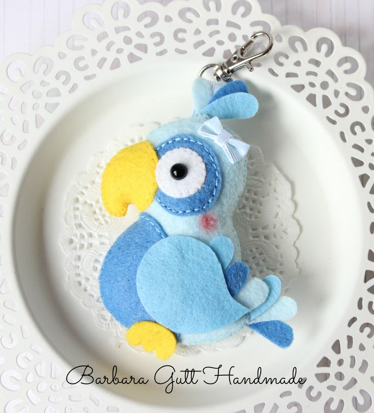 Barbara Handmade...: Niebieska papuga / Blue parrot