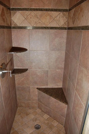 Simple w/neutral colors for master bath (Option 1) I love the colors