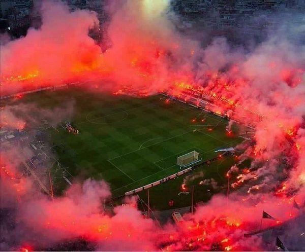 Na którymś stadionie w Grecji stadiony piłkarskie #football #soccer #sports #sport #pilkanozna #futbol