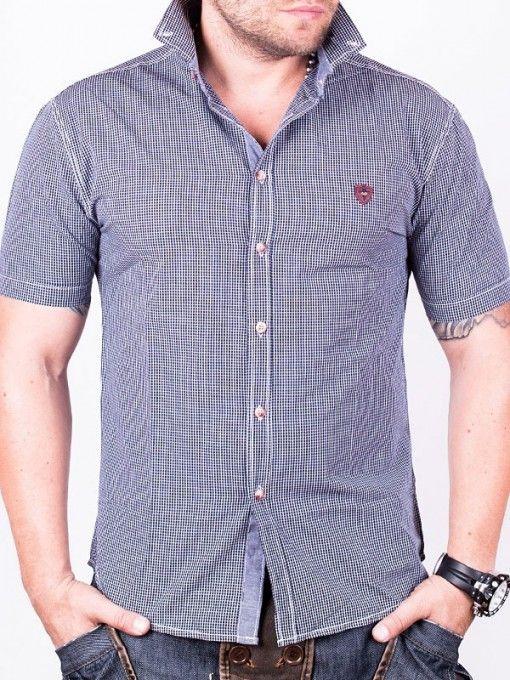 Camasa in carouri pentru barbati RedFactor – albastru inchis