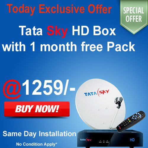 Tata sky Best Offer and Deal with customer's  only on www.mydthshop.com