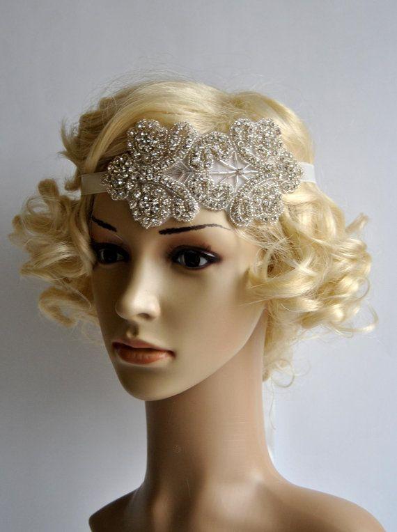 Rhinestone Headband Bridal Headband Wedding by FabulousStyleDesign