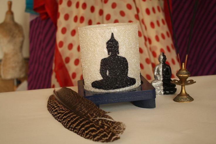 Buddha Lamp - Handmade Silhouette Buddha Lamp by Aartico on Etsy #handmade #white #lamp #craftbuzz #art #paper #lighting #stylish #home #decor #spiritual #buddha #om #meditation #meditate