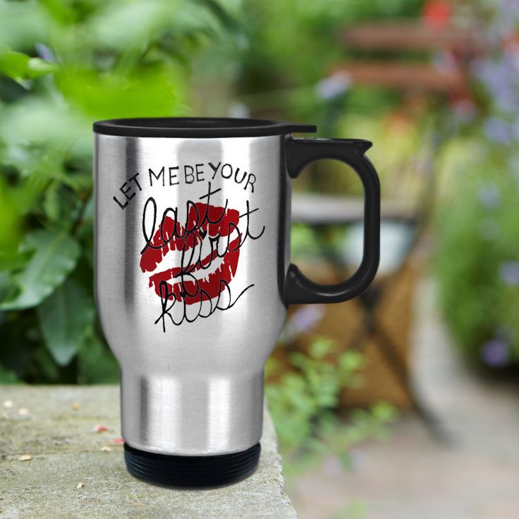 Let me be your firt kiss 1D Design stainless steel travel mug