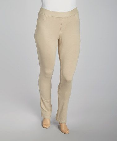 Another great find on #zulily! Khaki Jeggings - Plus by Poplooks #zulilyfinds