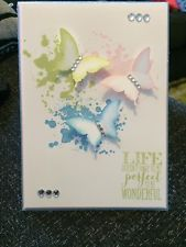 Hand Made Stampin Up -  Life Doesnt Have To Be Perfect To Be Wonderful Card