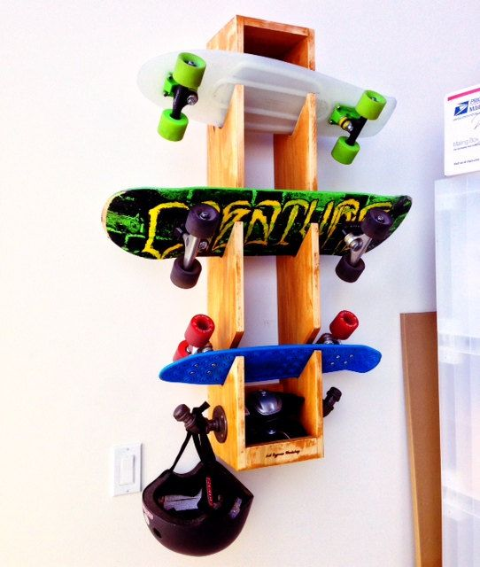 Skateboard Storage Rack by LilCypressWorkshop on Etsy, $85.00
