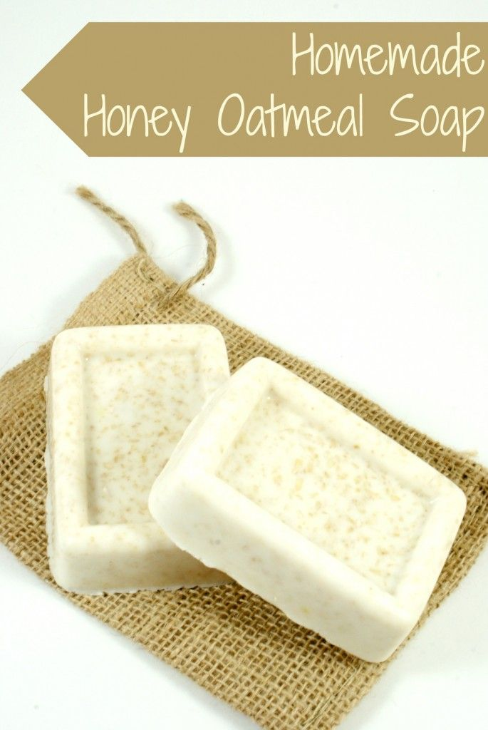 Homemade Honey Oatmeal Soap DIY Recipe                                                                                                                                                                                 More