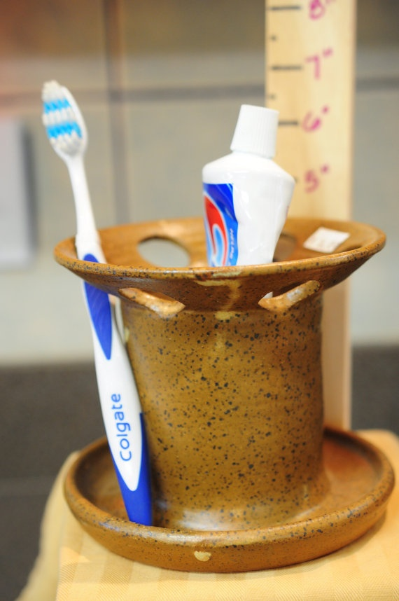 Pottery Toothbrush Holder