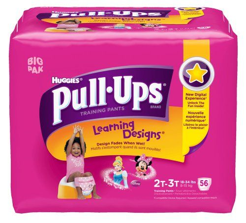 Pull-Ups Learning Design Training Pants, Size 2T-3T, Girl, 56 Count (Pack of 2) - 112 total count - http://www.discoverbaby.com/diapers/pull-ups-learning-design-training-pants-size-2t-3t-girl-56-count-pack-of-2-112-total-count/