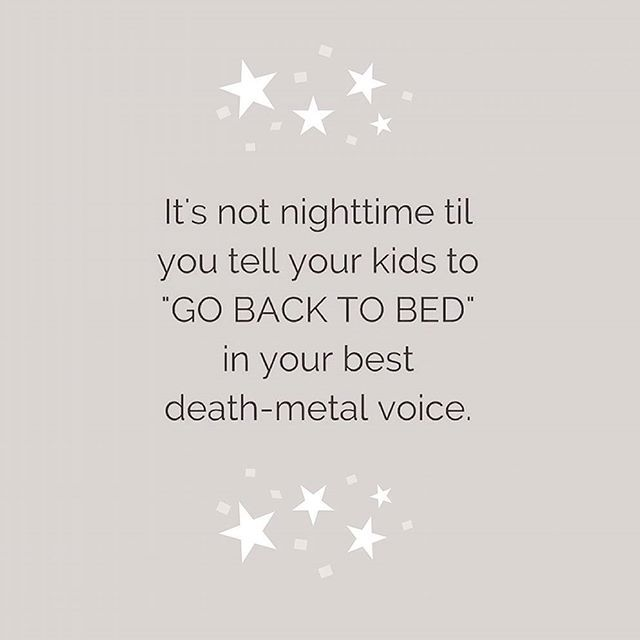 'Non è notte finché non urli a tuo figlio TORNA A LETTO nella tua miglior voce death metal'💤 #quote #goodnight  #momquote #casadelbambino #babyshop #babydesign #mom #mommy #mother #family #mommylife #babystyle #babygift #babyshower#bestoftheday #follow #instadaily #photooftheday #picoftheday#adorable #babies #baby #beautiful #cute # #infant #instababy #instagood #kid #kids  Scopri di più su ☞ www.casadelbambino.com