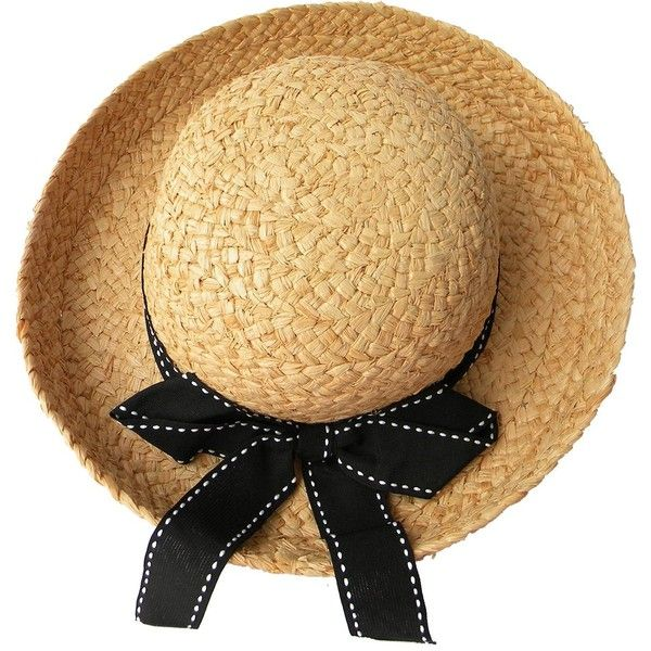 Summer Beach Bowknot Straw Sun Hat (29 AUD) ❤ liked on Polyvore featuring accessories, hats, straw sunhat, summer beach hats, straw hat, summer hats and sun hat