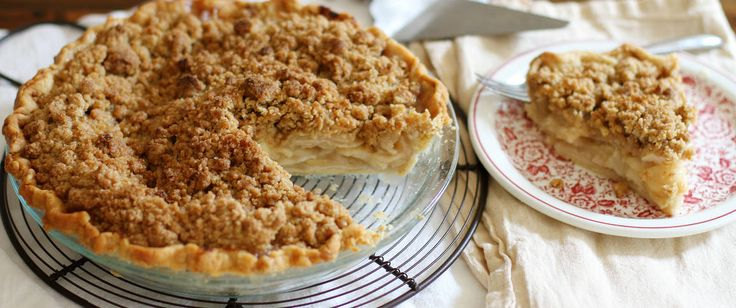 Embrace apple season and bake up this classic crumble-topped apple pie today. (Make gluten free by subbing flour and using different pie crust!)