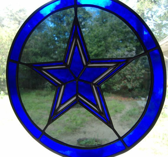 Dallas Cowboys Stained Glass Panel By Customglassstudio On