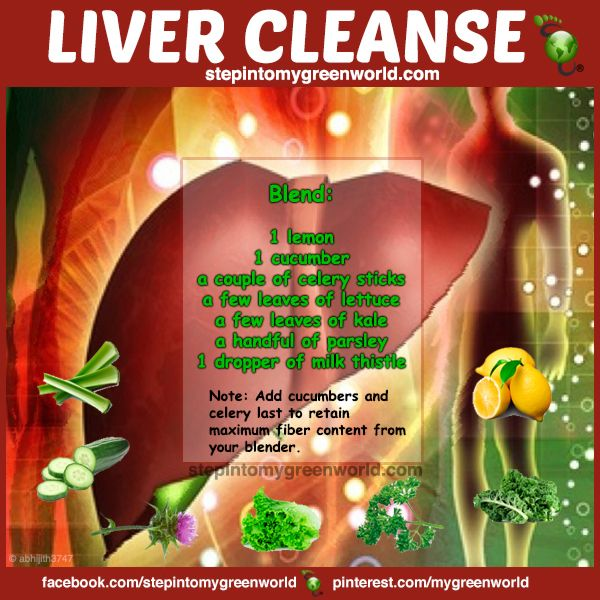 ☛ A POTENT liver cleanse recipe on time for the week end!  FOR ALL THE LIVER CLEANSE DETAILS:   http://www.stepintomygreenworld.com/helathyliving/liver-cleanse/  ✒ Share | Like | Re-pin | Comment