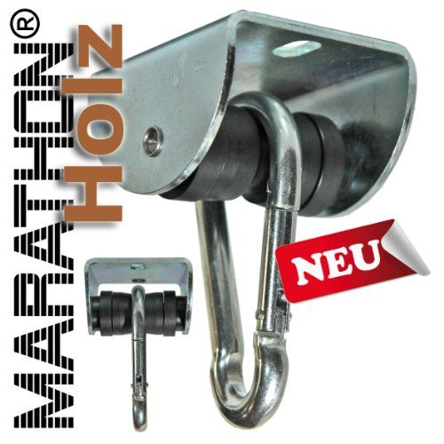 MARATHON Swing Hanger for WOOD installation - Heavy duty hanger with Ball Bearing Technology up to 60 min continuous moving www.die-schaukel.de http://www.amazon.com/dp/B0080XJ9EW/ref=cm_sw_r_pi_dp_tHjSvb0VQDT1E