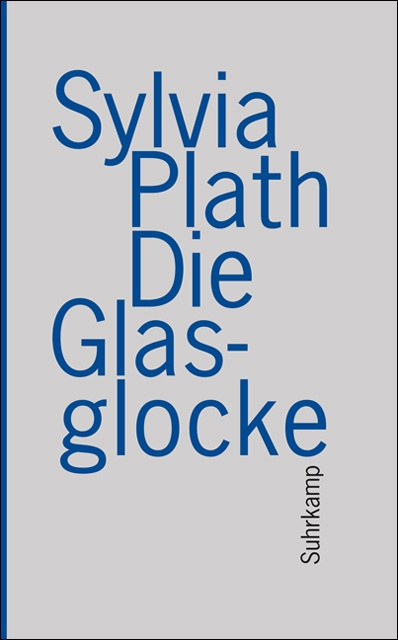 Die Glasglocke (The Bell Jar) by Sylvia Plath, next one on the list for a small reading group I'll be joining for the first time. This book is rather pretty, grey front and back, blue sides..