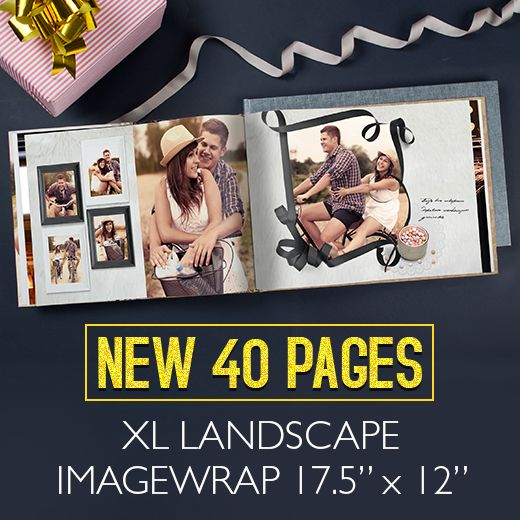 Check out what it means to have some really EPIC moments with the XL Landscape Imagewrap Hardcover now available in 40 pages only!