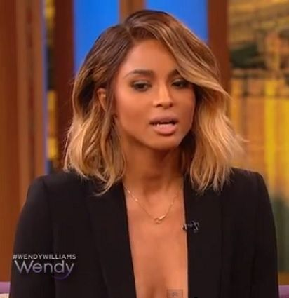 Ciara's bob. Amber color is very tempting.