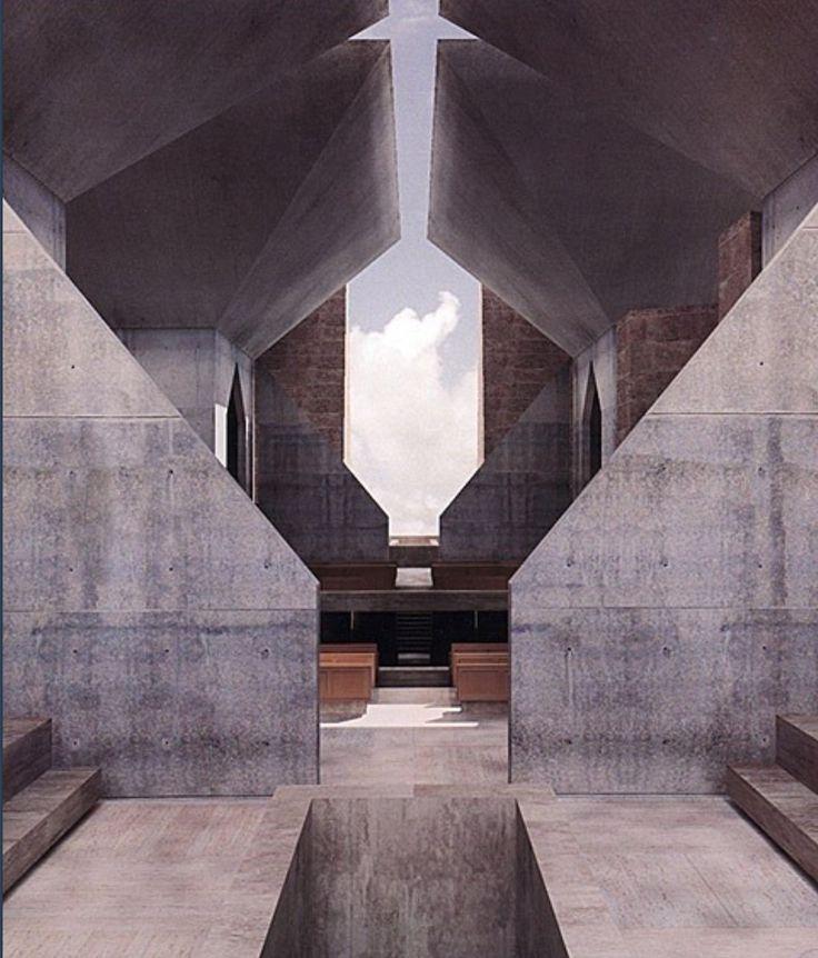 Modern Concrete Hurva Synagogue by Louis Kahn