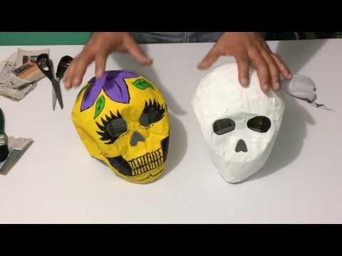 como hacer manos para catrina en papel maché parte 1 - YouTube
