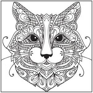 Blank Adult Coloring Pages Cats