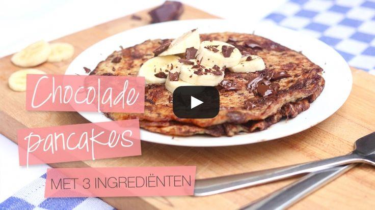 Gezonde chocolade pancakes met 3 ingrediënten - CLF TUBE