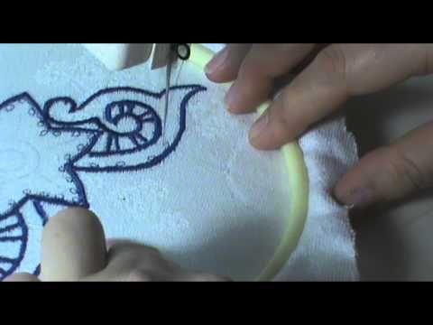 Машинная вышивка Безбридное Ришелье автор работы   Анна Клименко