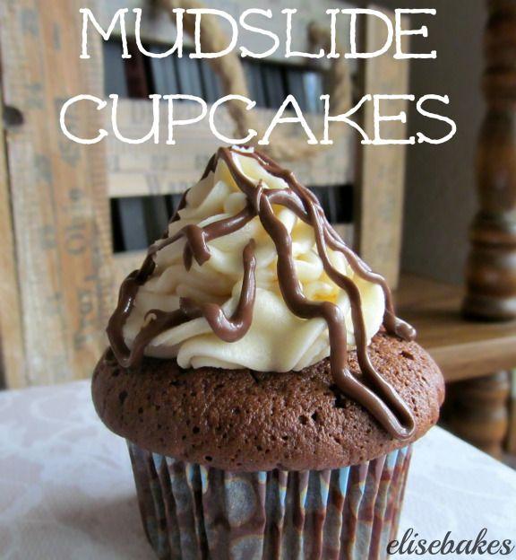 Mudslide Cupcakes via elisebakes