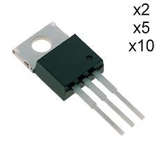 Transistor unipolaire N-MOSFET IRF520NPBF 100V 9.7A 48W TO220AB Lot x2, x5, x10