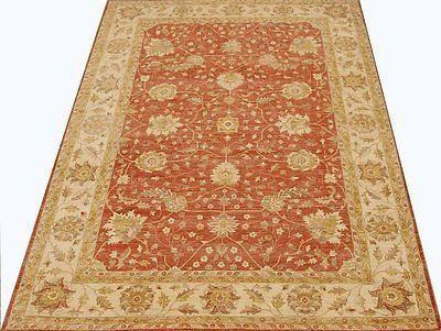 Antiqued Rust Red 12x16 Inexpensive Rug Vintage Stone Wash Chobi Peshawar Rug