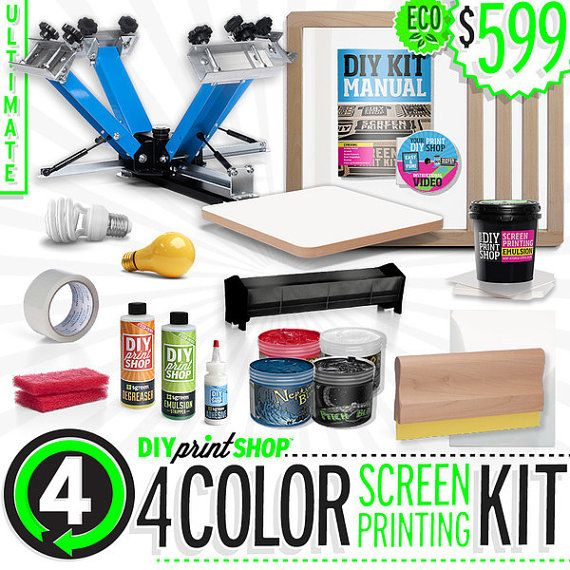 13 best diy print shop etsy shop images on pinterest screens arts diy 4 color screen printing kit do it yourself print shop solutioingenieria Gallery