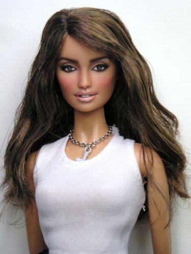 Penelope Cruz Doll Celebrity Portrait OOAK Barbie Doll Repaint by Pamela Reasor | eBay