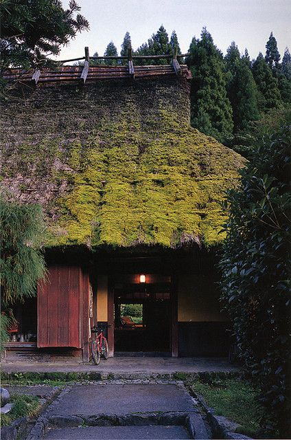 Japanese traditional rural thatched house.