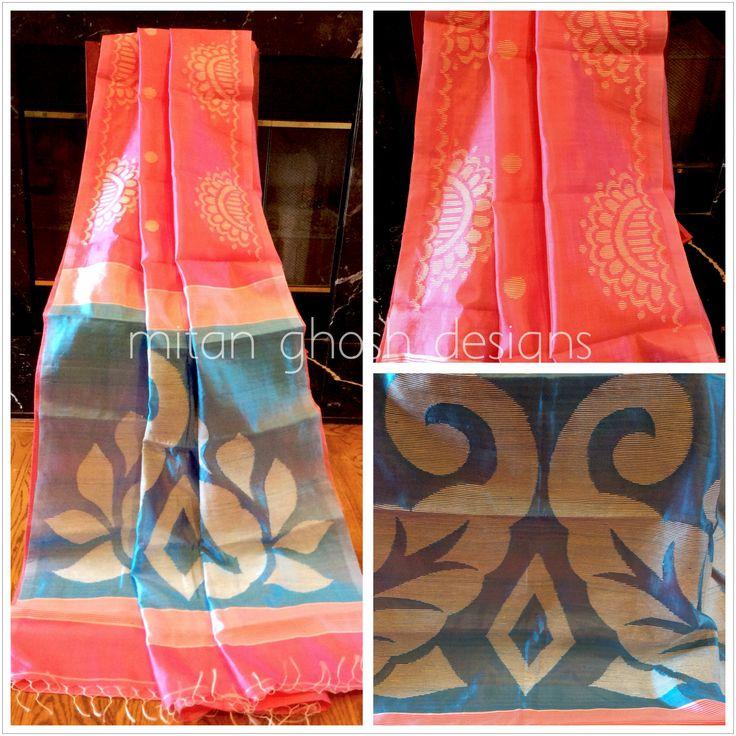 Silk With Ghicha Weave