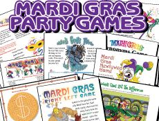 Mardi Gras Celebrations, Game printables and Carnival Recipes