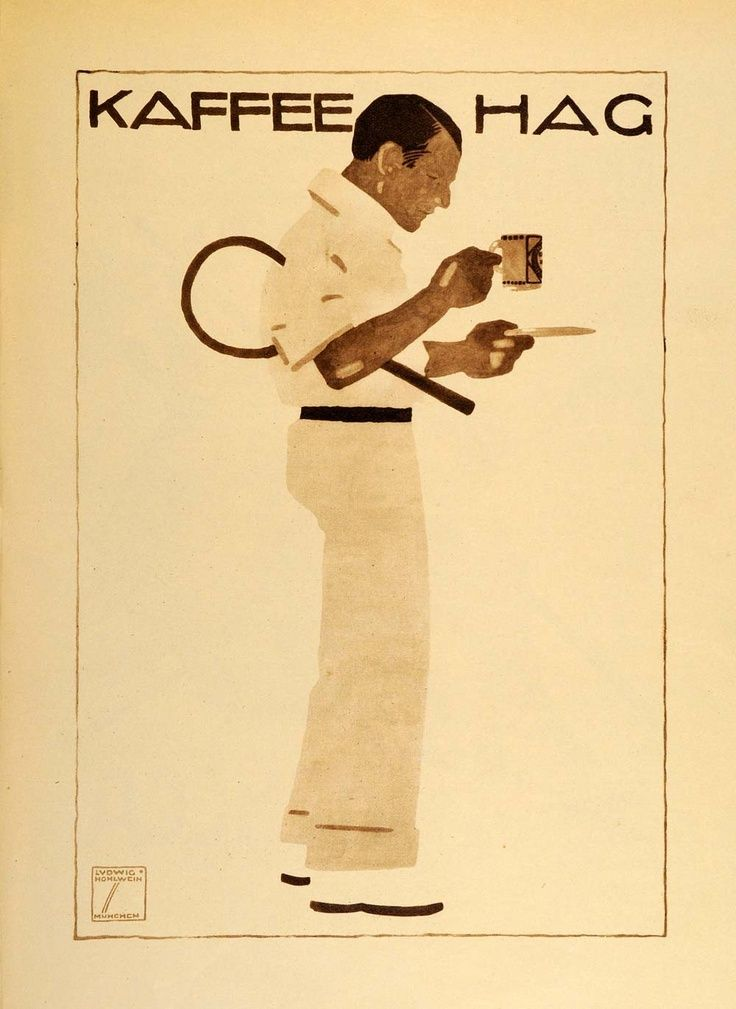 Risultati immagini per Ludwig Hohlwein - Kaffee Hag - 1913