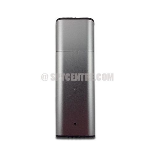This hidden audio recorder flash drive offers time & date stamped recordings. This discreet recording device has a simple on/off switch for quick recording..