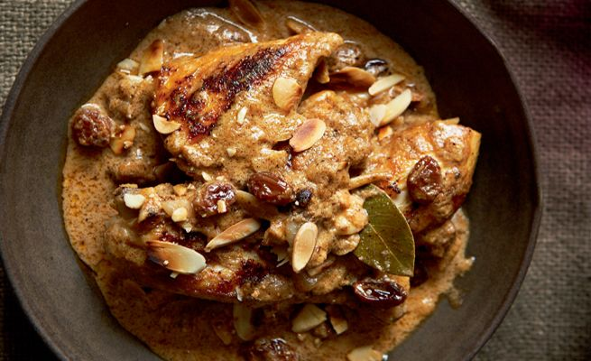 Madhur Jaffrey's recipe for Royal Chicken Cooked in Yoghurt. Easy to make and super tasty! http://bit.ly/1naPHUC