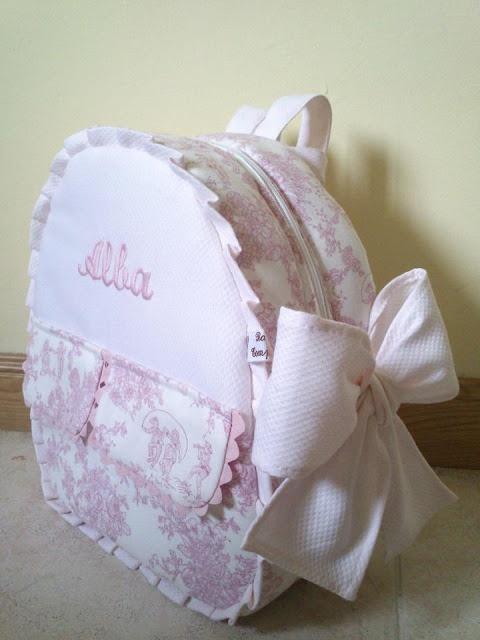 Baby in Toile de Jouy: Mochila Toile, Babies, Toile, Baby Bags