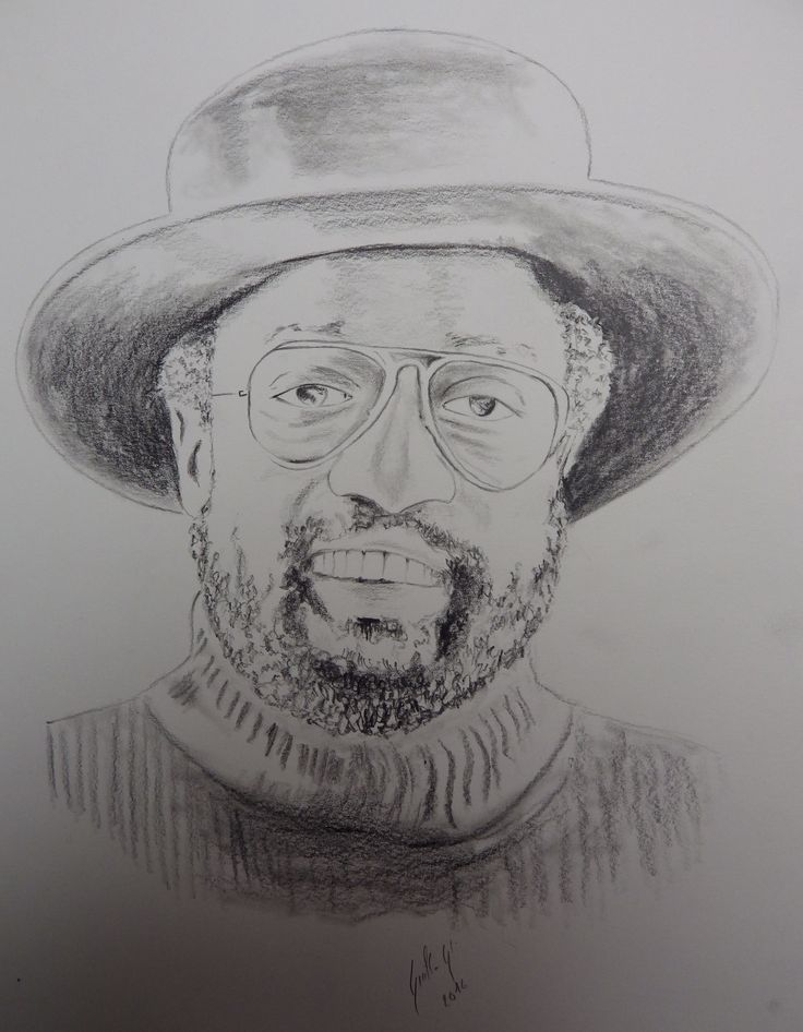 Billy Paul. Portrait au fusain