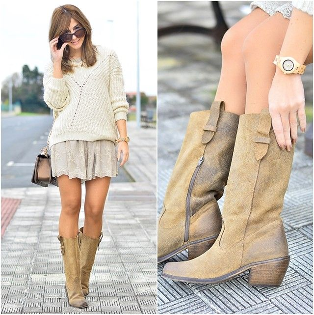 Looks de chica con botas marrones - Trendtation